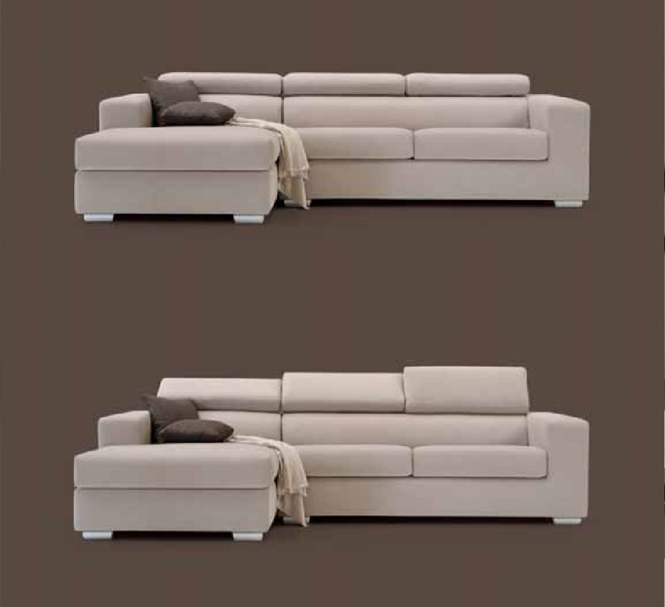 Sofa ZEN 3Places - H85 - P94 - L300 - CUIR Sky: SILVIA -  CATEGORIA TOP - ART